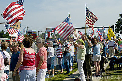 Tea Party Tax Protesters Editorial Stock Photo