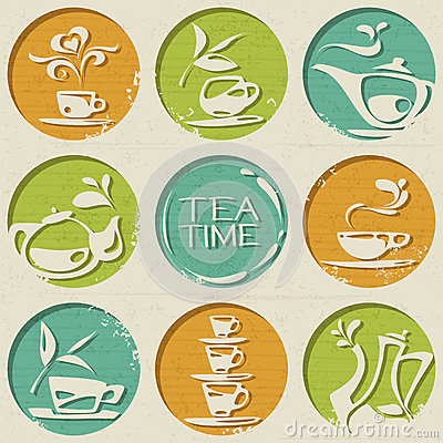Free Tea Pattern Consists Of Round Shapes With Food Elements. Stock Photography - 39613012