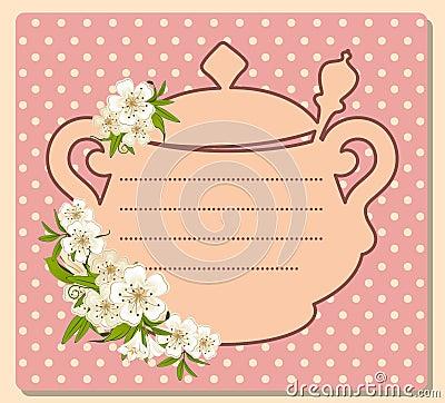 Tea pot with beautiful flowers