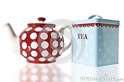 Tea Pot and Caddy