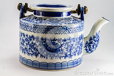 Tea pot with tea in asia.