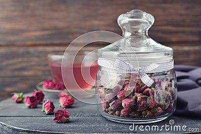 Tea rose flowers