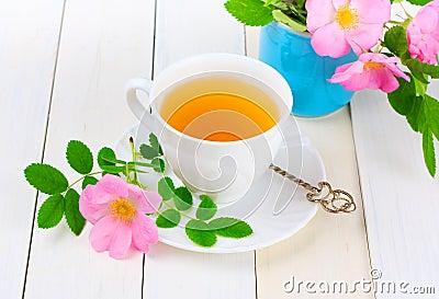 Tea with rose hip