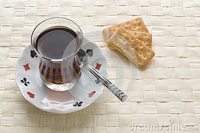 Tea and salty cookies