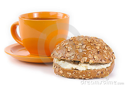 Tea and sandwich