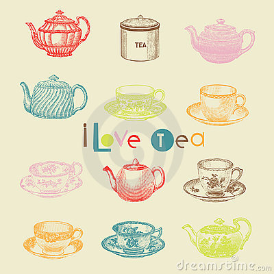 Free Tea Set Stock Photo - 16097030