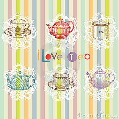 Free Tea Set Stock Image - 16097041