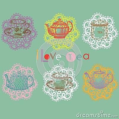 Free Tea Set Stock Image - 16097061