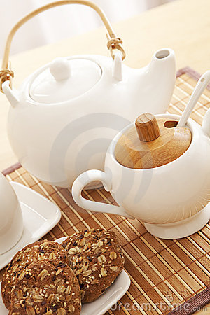 Tea set closeup