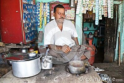 Tea shop in India Editorial Stock Photo