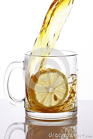 Tea splashing