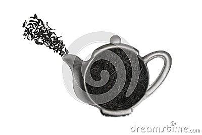 Tea in strainer.