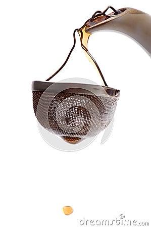 Tea-strainer macro