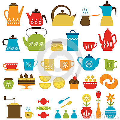 Free Tea Time And Coffee Time Royalty Free Stock Photos - 39958498
