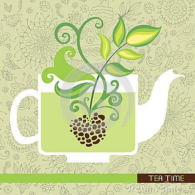 Free Tea Time Card Stock Images - 36937094