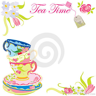 Free Tea TIme Party Invitation. Royalty Free Stock Image - 11530886