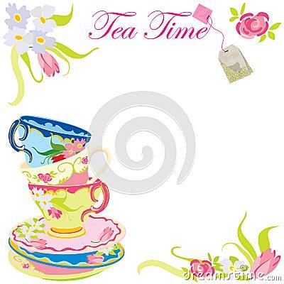 Tea TIme party invitation.