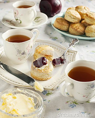 Tea time with scones