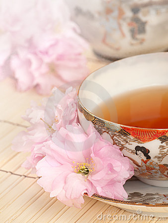 Free Tea Time With Antique Japanese Teacup Stock Photo - 20467090