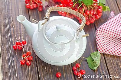 Tea and viburnum