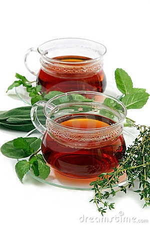 Free Tea With Aromatic Herbs. Royalty Free Stock Photos - 12704598