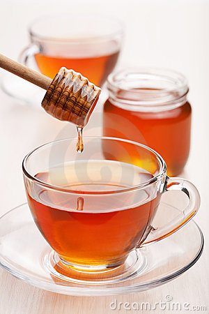 Free Tea With Honey Royalty Free Stock Images - 17040459