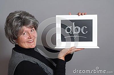 Teacher with ABC