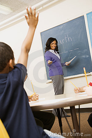 Free Teacher Calling On Student Royalty Free Stock Photo - 12528895
