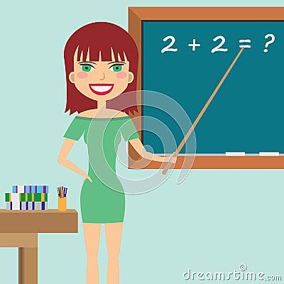 Teacher in the classroom.