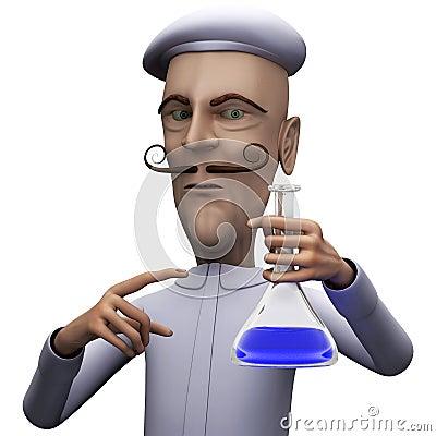 Teacher demand attention on certain test tube