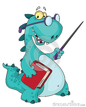 Teacher dinosaur