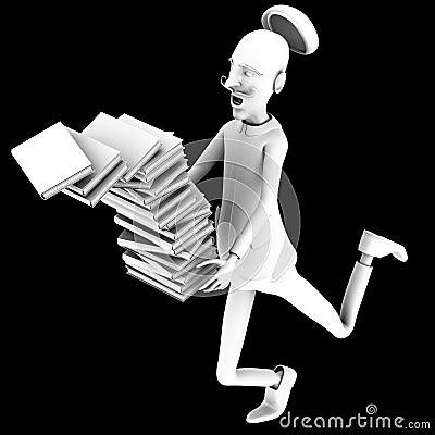 Teacher drops off a pack of books