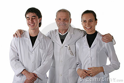 Teacher with medical students