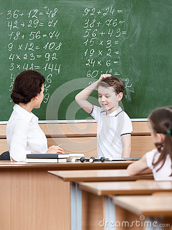 Teacher questions the pupil