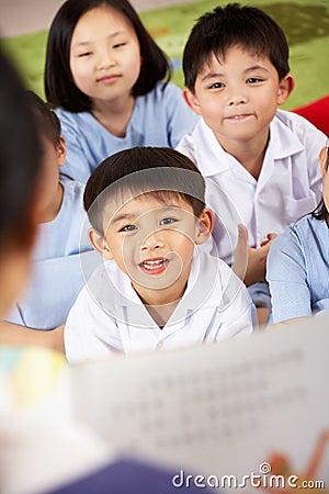 Teacher Reading To Students School Classroom