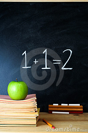 Free Teacher S Desk And Chalkboard Royalty Free Stock Photography - 20281447
