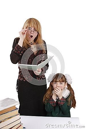 Teacher is shocked at schoolgirl s homework.
