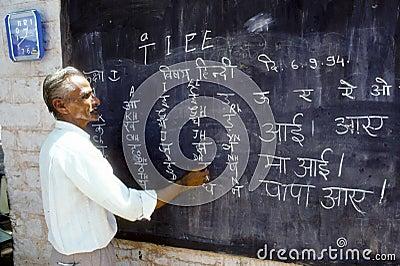 Teacher teaches children