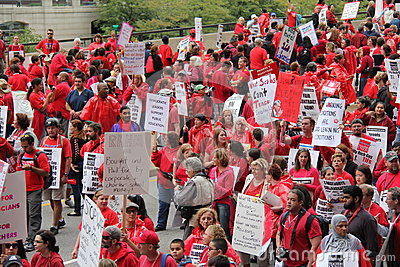 Teachers Strike Chicago A Editorial Photography