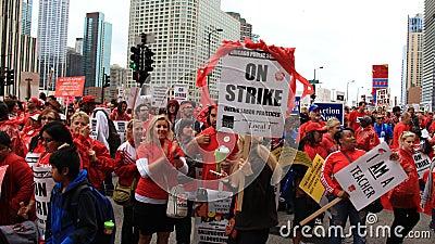 Teachers Strike Chicago B Editorial Photo
