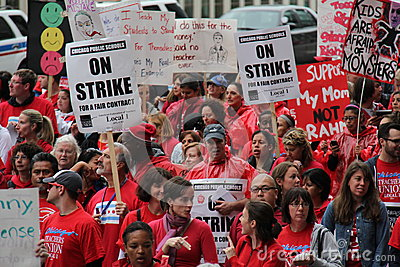 Teachers Strike Chicago C Editorial Photography