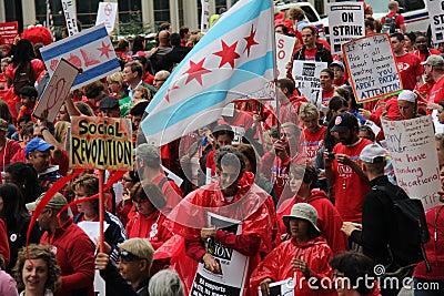 Teachers Strike Chicago F Editorial Photography