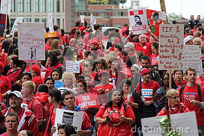 Teachers Strike Chicago G Editorial Stock Image