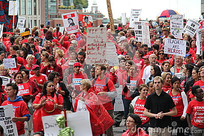 Teachers Strike Chicago H Editorial Stock Image