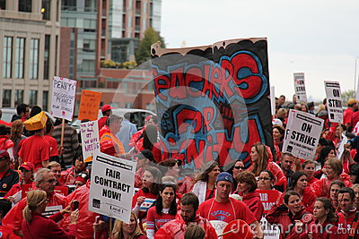 Teachers Strike Chicago M Editorial Image