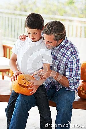 Teaching him Halloween traditions