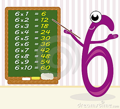 Teaching multiplication - number 6