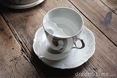 Teacup with moustache protection design