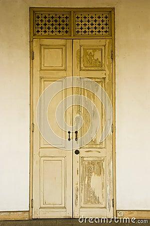 Teak doors