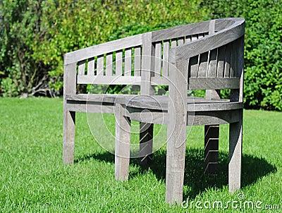 Teak garden seat